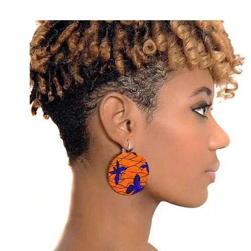 Boucle d'oreille de style africain pour femmesà la main ankara 2