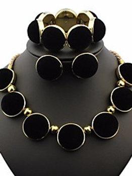femme Ensemble de Bijoux Noir