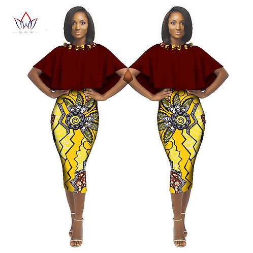 Femmes Robe Brésil Maxi Africaine Dashiki Imprimer ref02