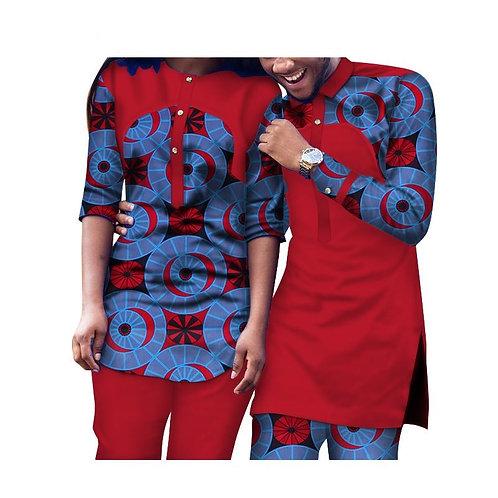 ensemble Hommes et Femmes 2 Pièces pantalons et haut  Traditionnels vêtements A2