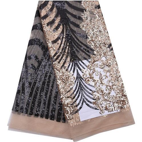 dentelles tissu africain en filet, avec paillettes top francais 5m