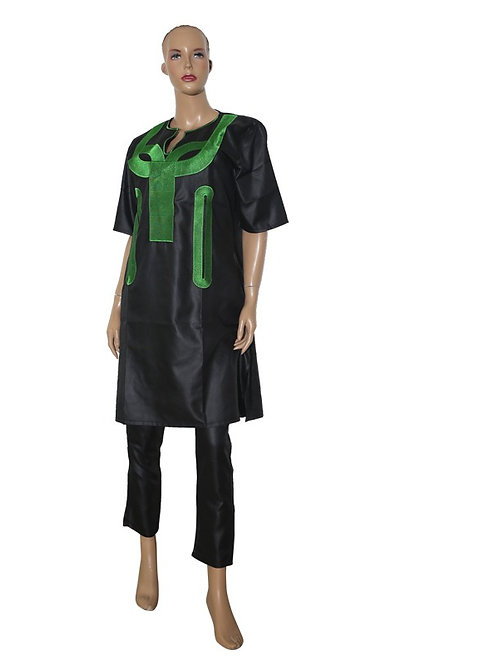 femmes Africaines dashiki tops pantalon ensemble