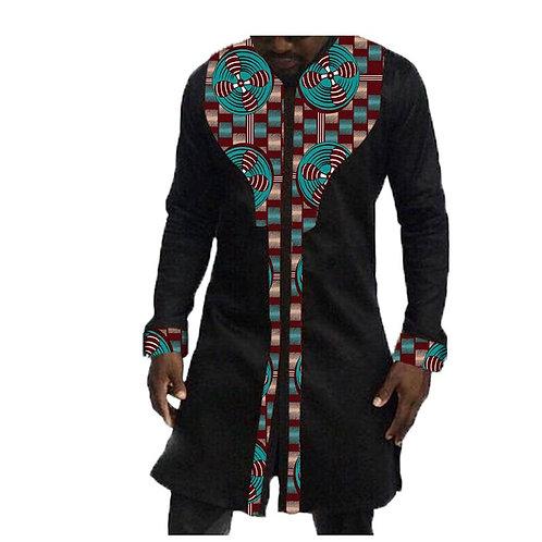 homme longue dashiki  imprimé style Niger