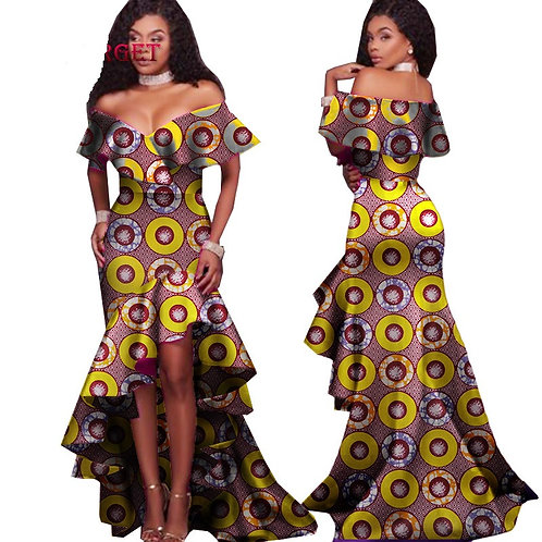 femme robe afro riche crocostyle