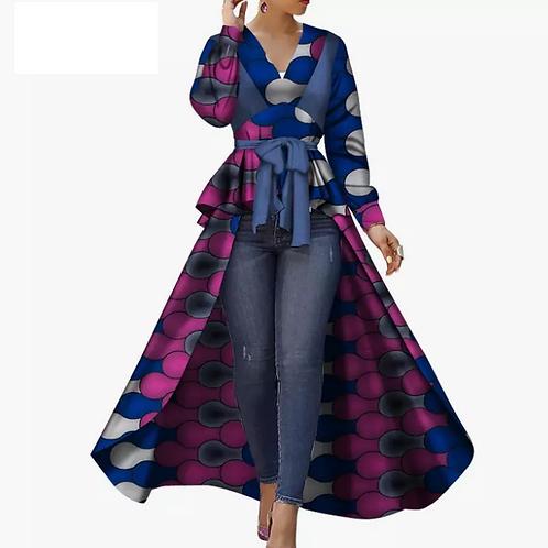 Femme africain Dashiki superbe élégante robe de dames africaines avec ceinture