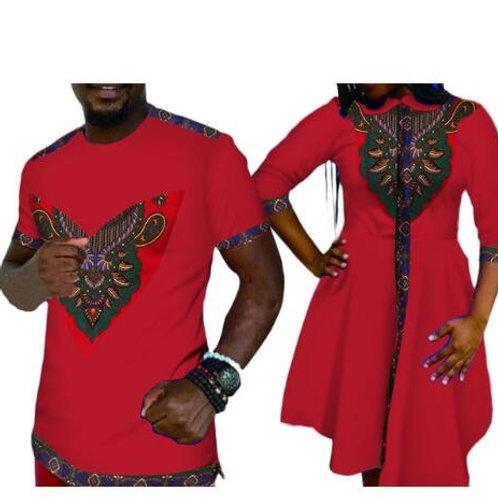 couple elegent mode style africain coton costumes (femmes + homme