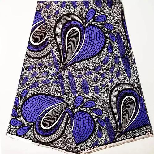 véritable cire 6 yard/lot impression de tissu africain de haute qualité