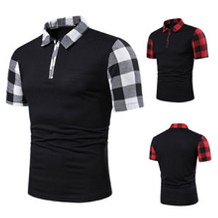 polos Slim Fit décontracté casual Patchwork coton