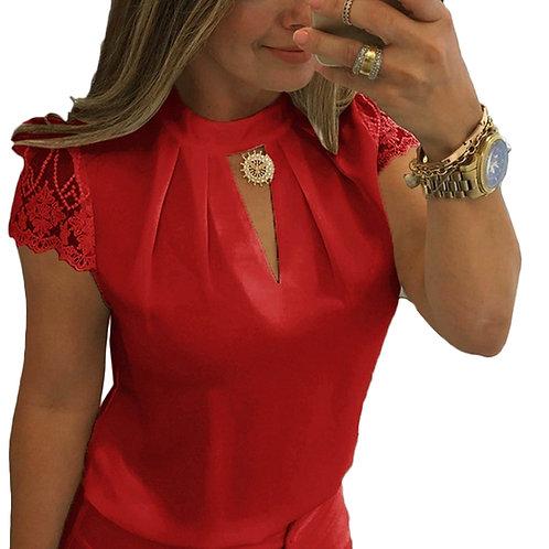 femme haut casual dentellle de bureau ref005