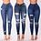 Thumbnail: Taille haute push up denim jean femmes coupe ajustée calca jean dames déchiré