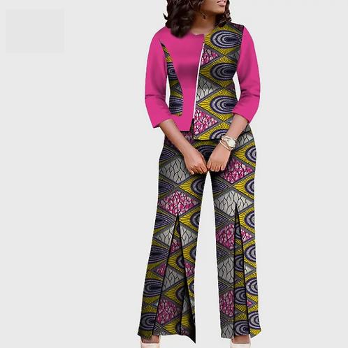 costumes pour femmes pantalons et haut ensemble traditionnel coton imprimé