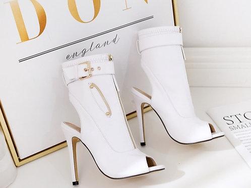 Femme bottines à talons haut chaussures Peep Toe Sexy Lady