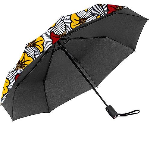 Ankara imprimer parapluies trois pliage automatique parasol avec revêtemen wax