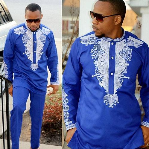 ensemble 2 pièces outfit set hommes Africains
