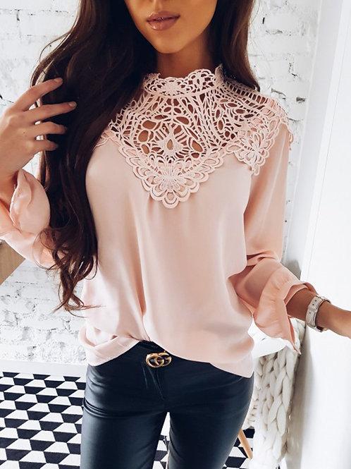 femme chemise blouse a dentelle ref D11