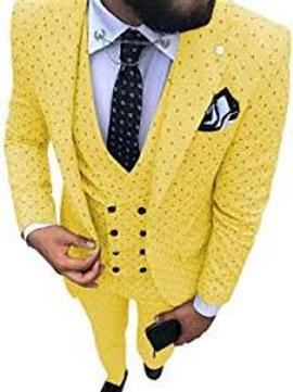 hommes Poika dot costume 3 pièces dernier manteau pantalon conceptions encoche r