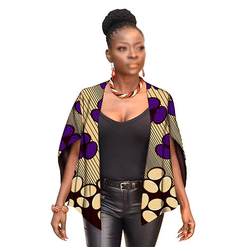 femmes manteaux haut posé ankara  tissu imprimé dashiki coton