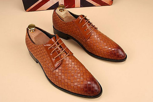 hommes chaussure de mariage tissé respirant Gentleman Oxford