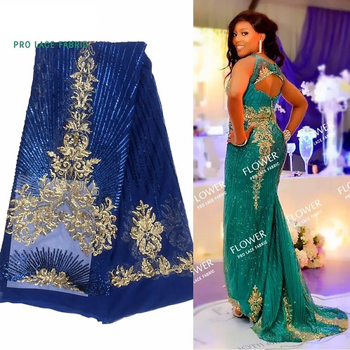 Tissu Net brodé à paillettes dentelle  pour tissu de mariage indien