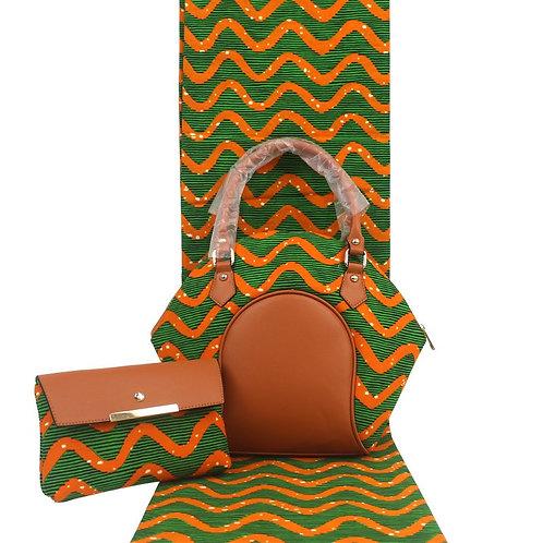 sacs de cire africaine ensemble avec 6m ankara cire africaine imprimé tissu