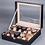 Thumbnail: cuir  et verre Top boîte de rangement de montre  6.10 grille