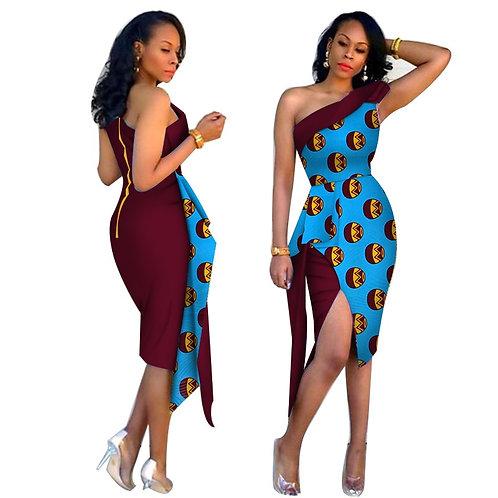 Robes femmes africaines Vestidos 2019 nouvelle mode col élégant