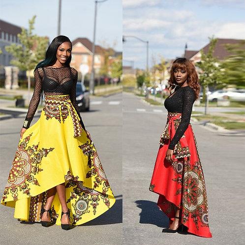 femme jupe imprimé élégante style