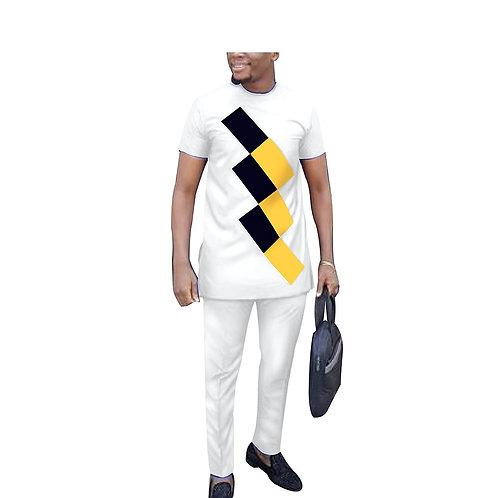 traditionnels vêtements vêtements chemise et pantalon 2 pièces costume Dashiki