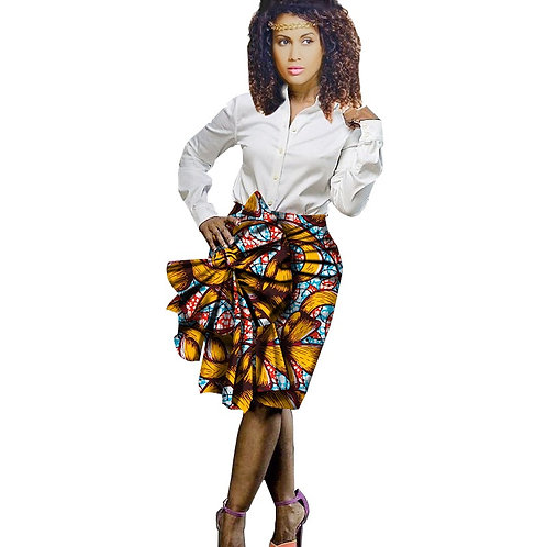 femmes jupe Africaine Dashiki Bazin casual ref01