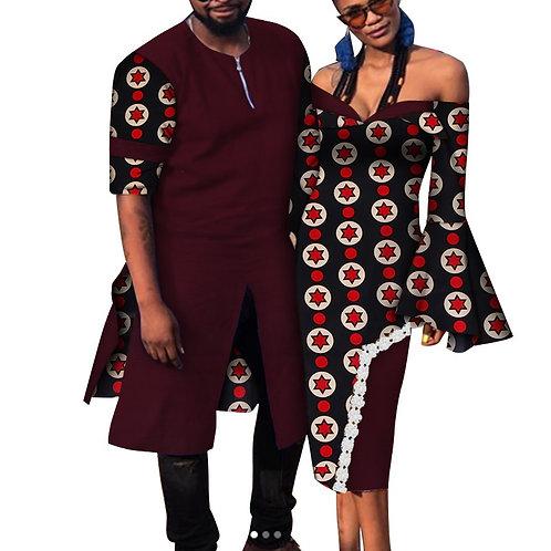 Couple vêtements mode africaine robe  femmes Dashiki chemise homme