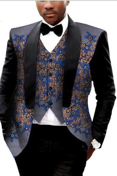 homme africain Batik  Costume Gilet