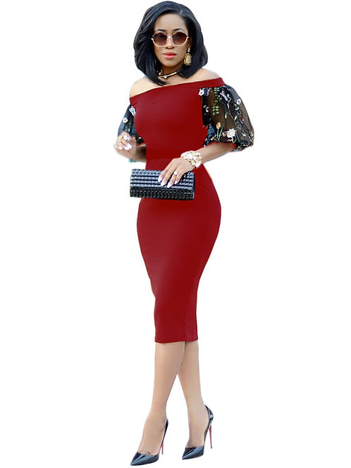 femme robe sexy dentelle manche