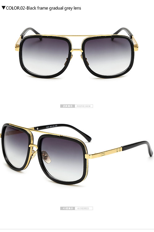 luxe lunettes de soleil pour hommes métal Designer Cool
