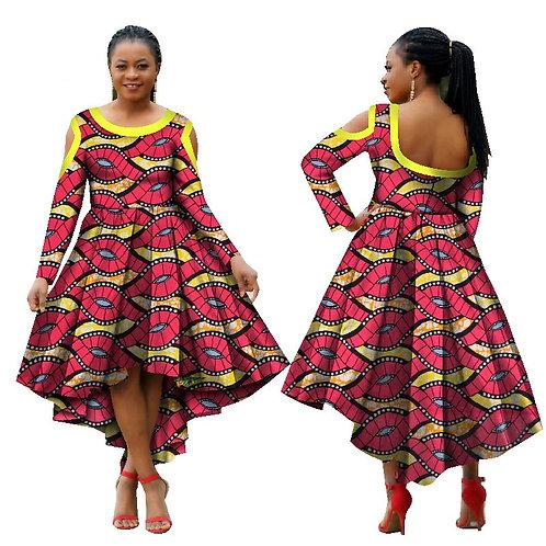 femme Dashiki O-cou travail robes à manches longues