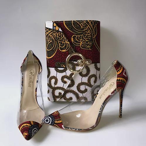 sac à main et chaussures à talons hauts vente chaude chaussures en tissu
