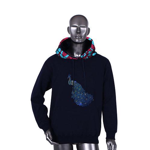 Nouveau Style hiver africain hommes sweat-shirt traditionnel imprimé coton