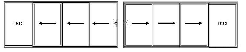 Slim Frame Sliding Doors 4 Track Configu