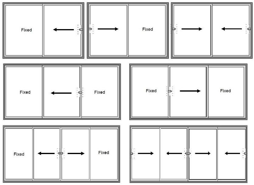 Slim Frame Sliding Doors 2 Track Configu