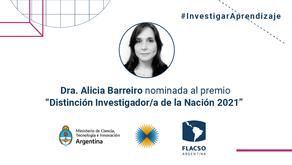 """#InvestigarAprendizaje   Postulación de la Dra. Alicia Barreiro en la categoría """"Premios Houssay"""""""