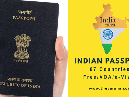 60+ VISA FREE COUNTRIES FOR INDIAN PASSPORT 2019