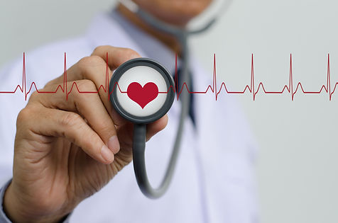 Doctor (cardiologist) with stethoscope i