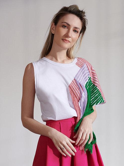 Blusa Marrô Malha com Bordado