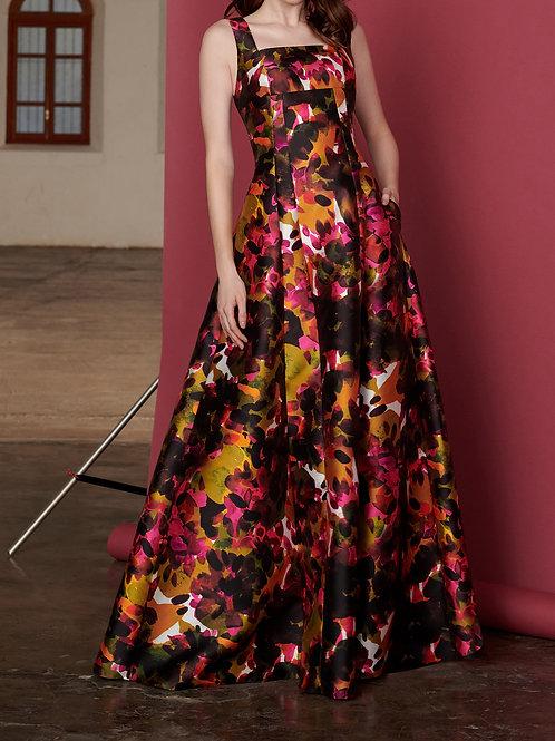 Vestido Marrô Zibeline Decote Quadrado