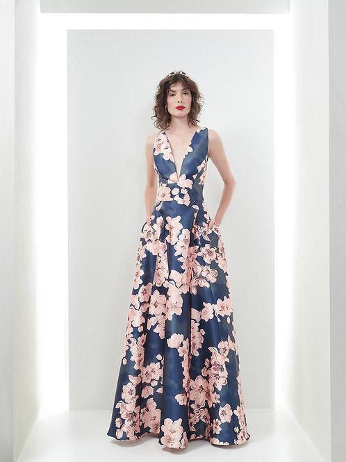 Vestido Marrô Zibeline Estampado