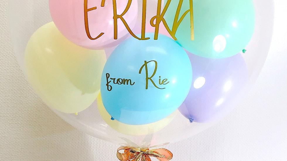 《Pastel bubble balloon》