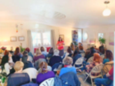 Sandy Guarnotta, psychic and medium teaches a class on spiritual ascension at the sohmalife sanctuary in New York.