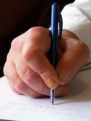 Hand writing.