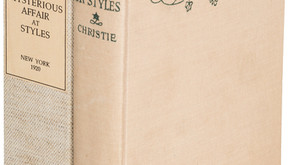 AUCTION: 4-Mar-2020: Mysterious Affair At Styles true 1920 1st Edition of her first book.