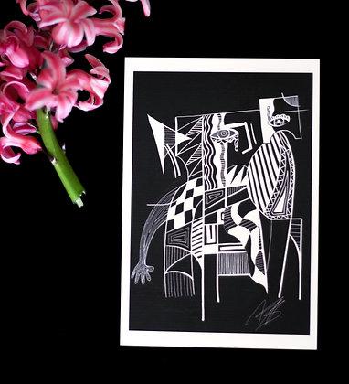 "A6 Art Print ""Abstract"""