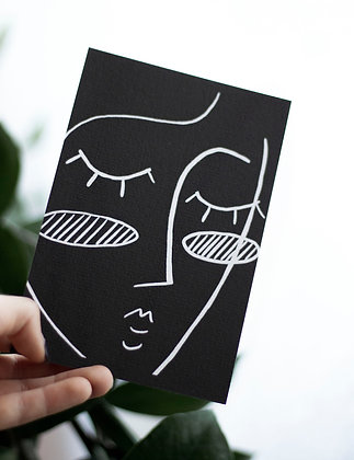 "A6 Art Print ""Black Line-Art"""